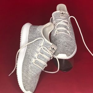 Adidas Men's Tubular Shadow Knit White Grey 8 Men